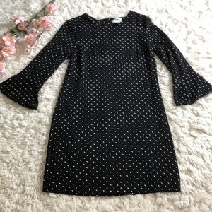 Old navy long bell sleeve polka dot dress